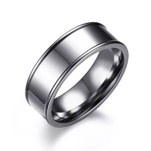 SZ7 7MM UNISEX TITANIUM STAINLESS STEEL BAND RING
